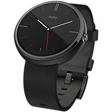 Motorola Moto 360 Leather Band Black