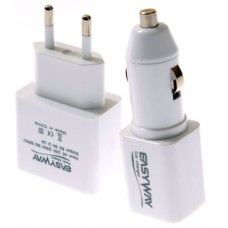 EASYWAY USB Car and Wall Charger